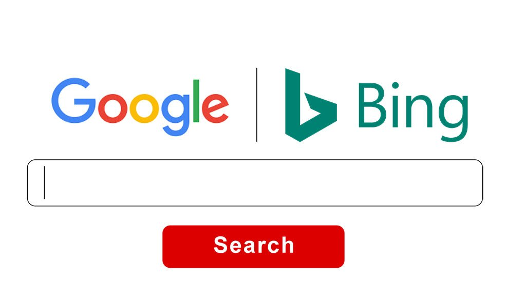 Google Bing differences similarities