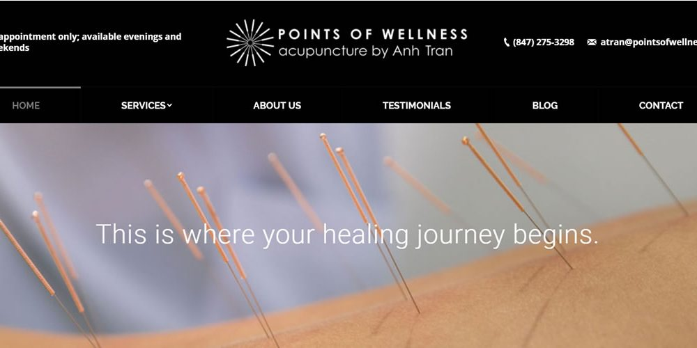 Points of Wellness website design