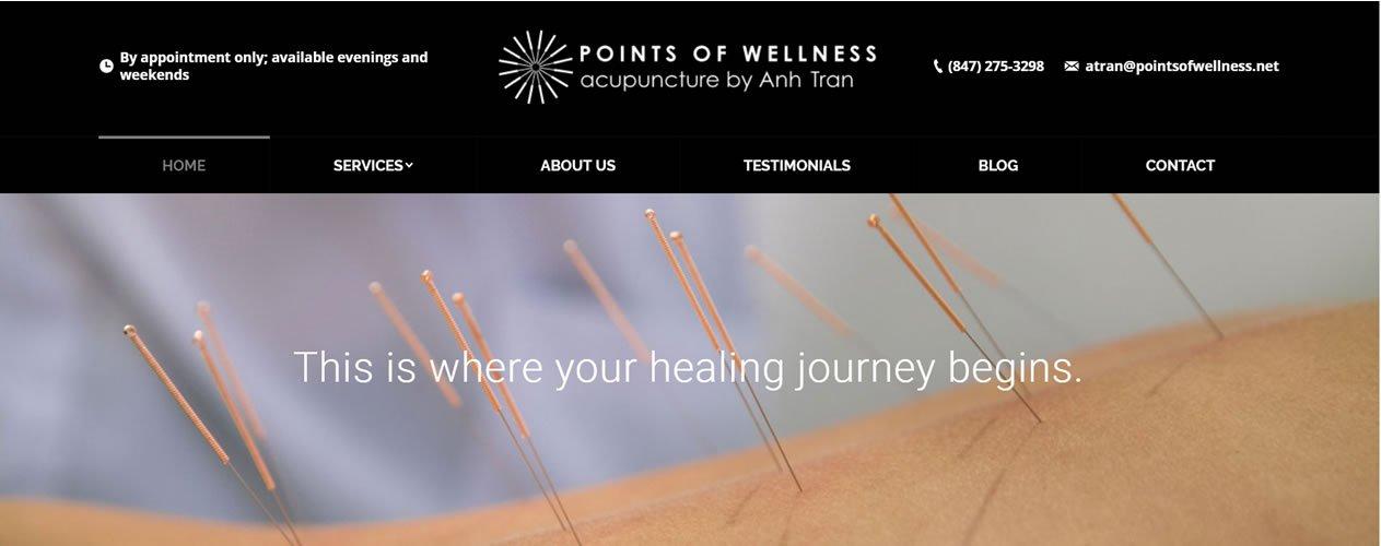 Points of Wellness website design