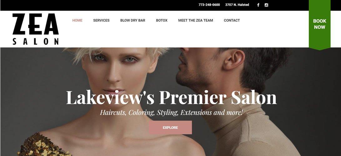 Zea Hair Salon wordpress design